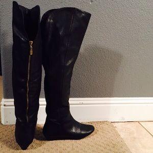 STEVEN Steve Madden Intyre Over Knee Leather Boots